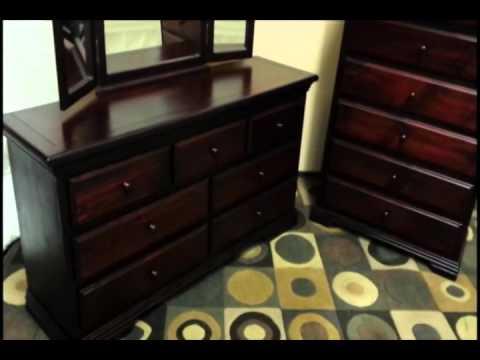 Knotty Pine Mirrored Dresser
