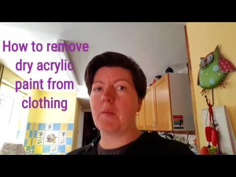 How to remove dry acrylic paint from clothing