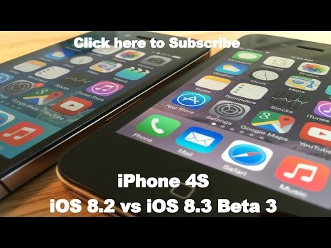 iOS 8.3 Beta 3 vs iOS 8.2 on iPhone 4S