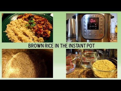 Brown Rice in Instant Pot