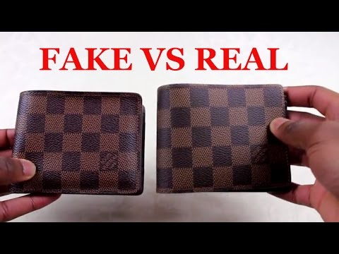 How To Spot a Replica Louis Vuitton Wallet | REAL VS FAKE Louis Vuitton Multiple Wallet