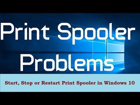 How to Start, Stop or Restart Print Spooler in Windows 10