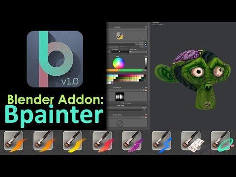 Blender Addon: Bpainter (Texture Painting in Blender Made Easy)