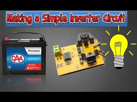 how to make A inverter 12v to 220v ( simple circuit with ne555)