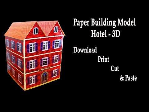 Paper Building Model - Hotel (3D Hotel model) - HD
