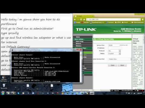 How to do port forward with TP-LINK a Minecraft server or every server with costume port