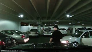 Idiots blocking cars in the parking garage - Ogden Megaplex 13