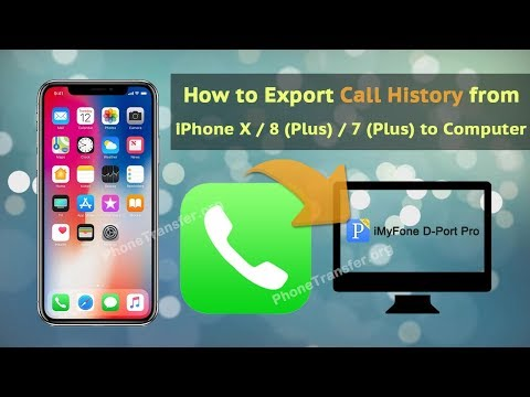 How to Export Call History from iPhone X / 8 (Plus) / 7 (Plus) to Computer
