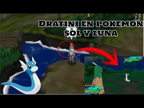 Como atrapar a Dratini, Dragonair y Dragonite en Pokemon Sol y Luna en Español - Dratini Alola