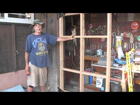 How to build a swing out garage door