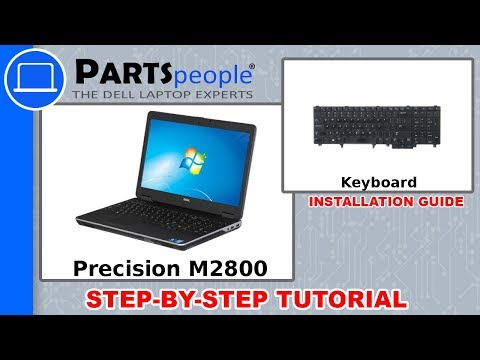 Dell Precision M2800 (P29F001) Keyboard How-To Video Tutorials