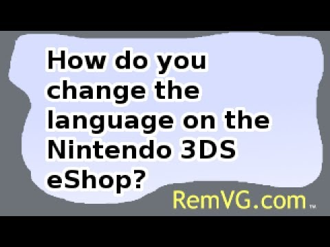 How do you change the language on the Nintendo 3DS eShop?