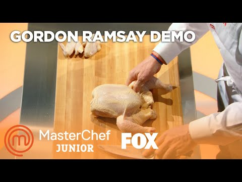 Gordon Ramsay Demonstrates How To Cut Up An Entire Chicken | Season 5 Ep. 8 | MASTERCHEF JUNIOR