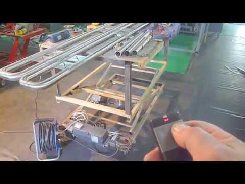 DIY Homemade scissor lift table