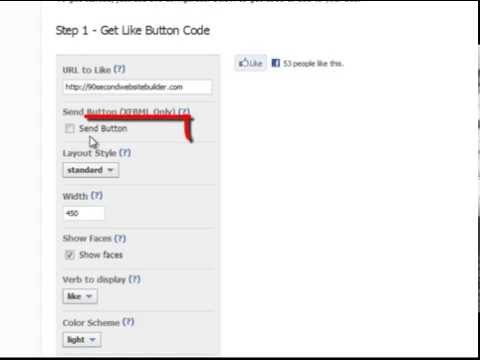 How to Add a FaceBook LIKE Button with 90 Second Website Builder