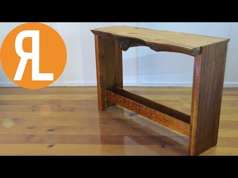Live Edge Hall Table | Silky Oak & Merbau