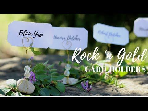 DIY Rock 'n Gold Card Holders Tutorial