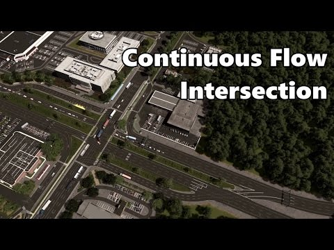 Cities Skylines: Continuous Flow Intersection build