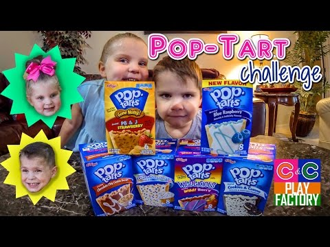 POP TART CHALLENGE by Carson and Courtney (C&C Play Factory)