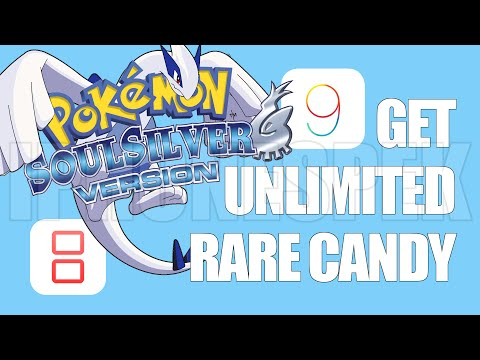 How to get unlimited Rare Candy Pokemon Soul Silver iNDS iOS 11 10 9 iPhone iPad
