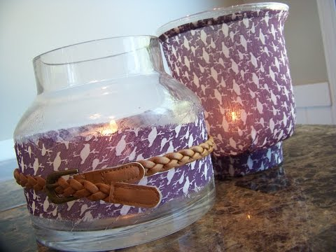 Chic on the Cheap: Glass Vase + Blouse Project