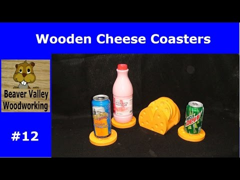 Wooden Cheese Coasters #12