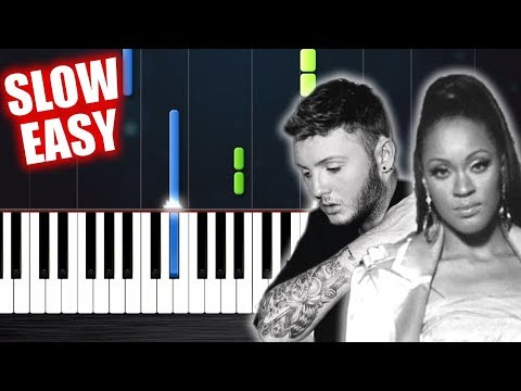 Shontelle/James Arthur - Impossible - SLOW EASY Piano Tutorial by PlutaX