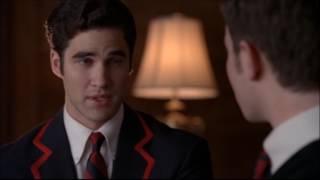 Glee - Kurt and Blaine's first kiss 2x16