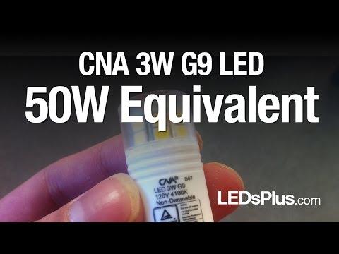 G9 LED for 50 Watt JCD G9 Halogen Light Bulb Replacement