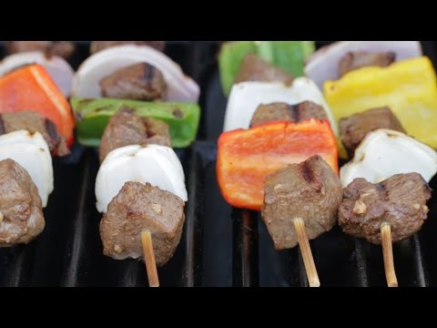 Beef Kebab with Garlic Sauce