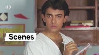 Aamir Khan Scenes from Hum Hai Rahi Pyaar Ke | Juhi Chawla | 90's Hindi Comedy Movie