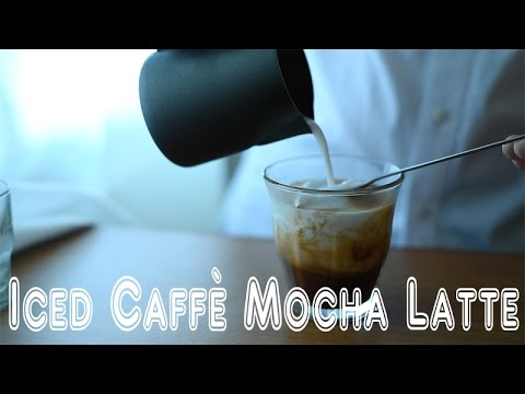 Homemade Iced Caffe Mocha Latte with a Moka Pot∣ 用摩卡壺做冰摩卡拿鐵