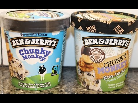 Ben & Jerry's: Chunky Monkey Original & Non-Dairy Comparison