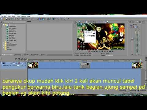 TUTORIAL SONY VEGAS PRO 11 ; CARA MEMOTONG VIDEO/plus teks panduan