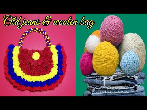 Handmade Purse Making with Woolen & Old Jeans Craft Idea LifeStyle Designs