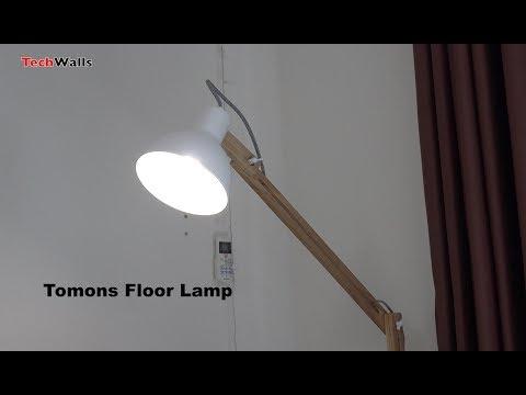 Tomons FL1001 Wood Floor Lamp Unboxing & Setup