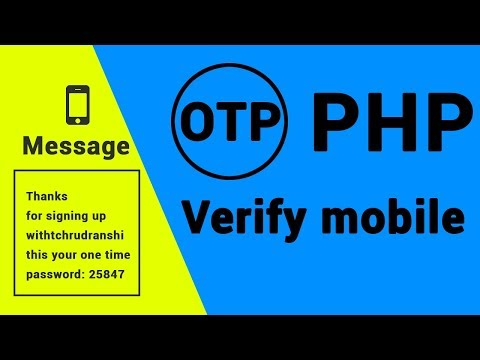 Signup through OTP using PHP and Javascript