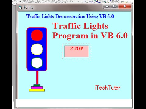Learn Visual Basic 6.0 (VB6)- Road Traffic lights Animated system -Step by Step Tutorial