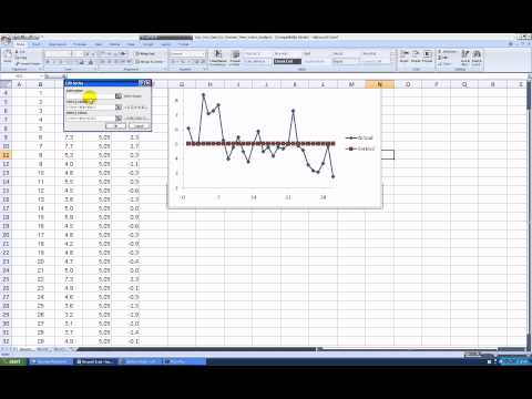 Creating a Random Process Fitted Line Plot in Excel 2007