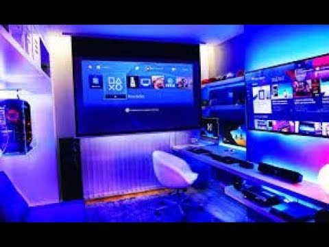 #gaming Ultimate Gaming Room Setup