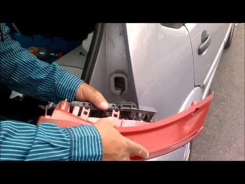 How to remove Citroen c3 rear light bulb