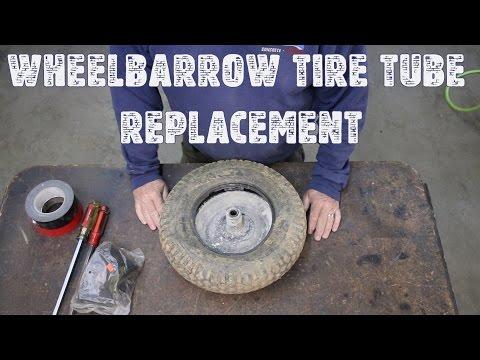 Wheelbarrow Tire Tube Replacement