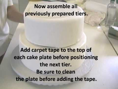 How to Stack a Wedding Cake--Very Sturdy Method