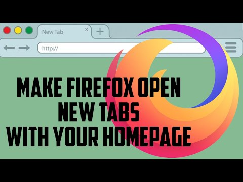 Make Firefox Open New Tabs with your Homepage