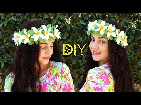 DIY $3 HAWAIIAN FLOWER CROWN || Lucykiins