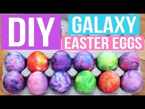 DIY SHAVING CREAM GALAXY EASTER EGGS | PINTEREST INSPIRED