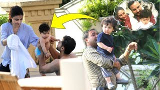 Taimur Ali Khan MISSES Mommy Kareena & Dad Saif After Watching Inaaya Spending Time With Her Family