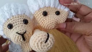 Scimmietta Amigurumi Uncinetto Tutorial 🙊 Monkey Amigurumi ... | 180x320