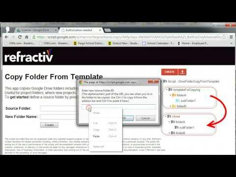Copy Folder Script