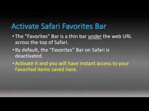 iOS Tips Activate Safari Favorites Bar
